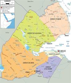 detailed political map of djibouti ezilon maps