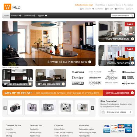 magento templates a free magento theme hellowired smashing magazine