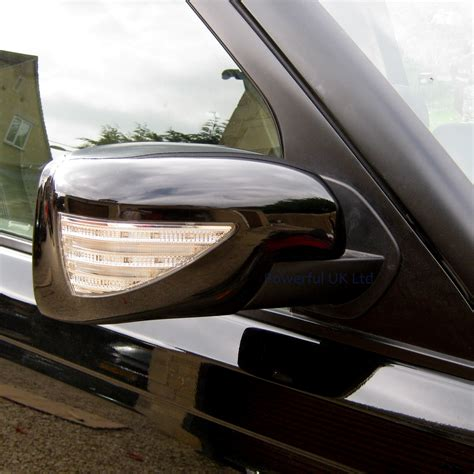 range rover welcome light black mirror cover caps led indicator welcome light land