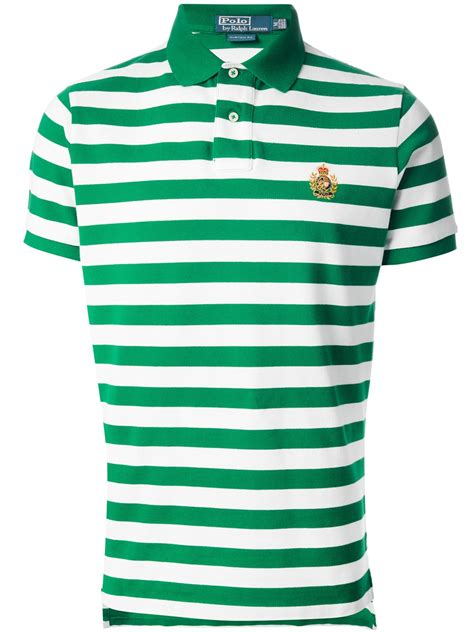 7 Striped Tops I by Polo Ralph Striped Polo Shirt In Green For Lyst