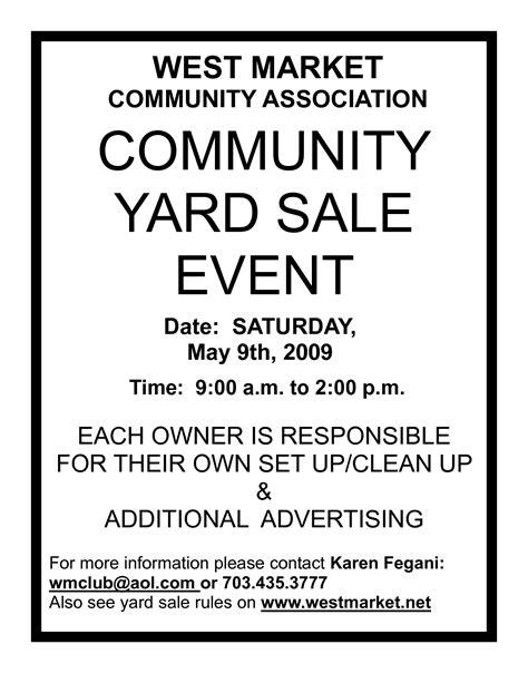 Neighborhood Yard Sale Flyer Template
