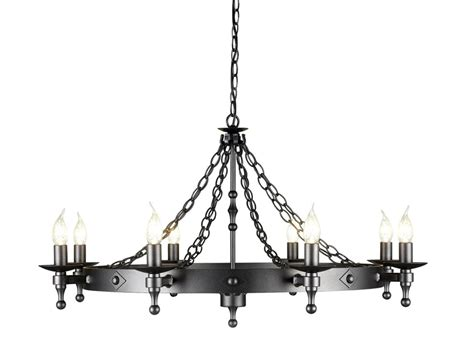 Chain Link Graphite Black Wrought Iron Chandelier Rot Iron Chandeliers