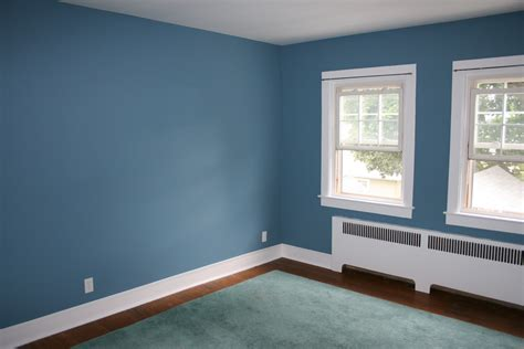 painting room my home blue accent wall