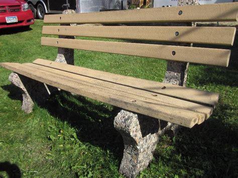 concrete park benches concrete park bench bemidji restaurant closing auction
