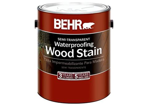 behr semi transparent waterproofing wood stain home depot