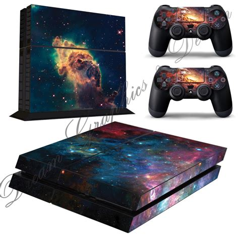 Ps4 Contoller Aufkleber by Galaxy Sticker Skin For Playstation 4 Ps4 Console 2 Free