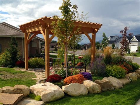 landscaping with arbors gazebos pergolas or trellises western timber frame