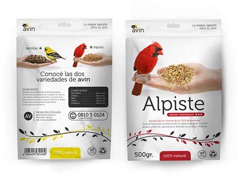 avin bird food packaging on pantone canvas gallery