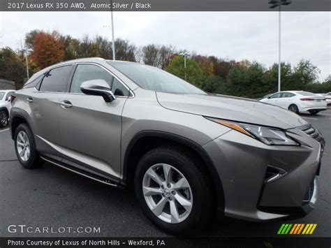 lexus rx black 2017 atomic silver 2017 lexus rx 350 awd black interior