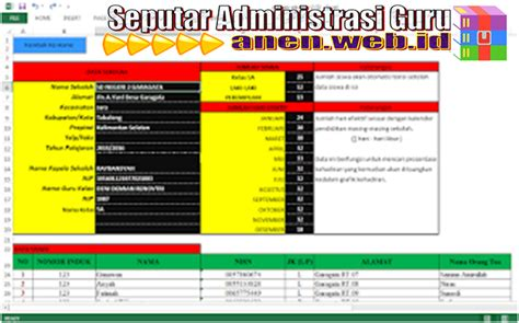 contoh format grafik absensi siswa contoh format absensi siswa otomatis unduh files