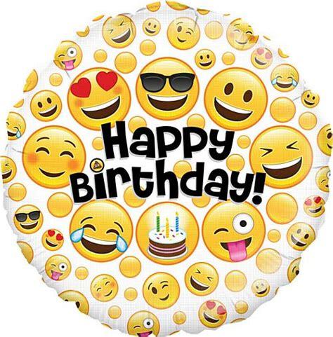 Balon Foil Emoji Birthday emoji birthday foil balloon 18 quot packs