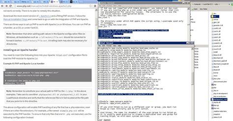 configure xp httpd conf apache for windows 2008 r2