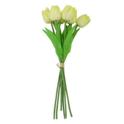 fiori artificiali real touch fascio di 6 real touch tulipani artificiali steli di