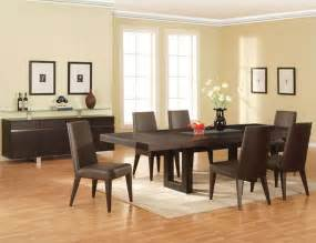 modern dining room sets d amp s furniture homelegance mckean 7 piece 66x42 dining room set in black