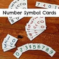 montessori number cards template free printables researchparent