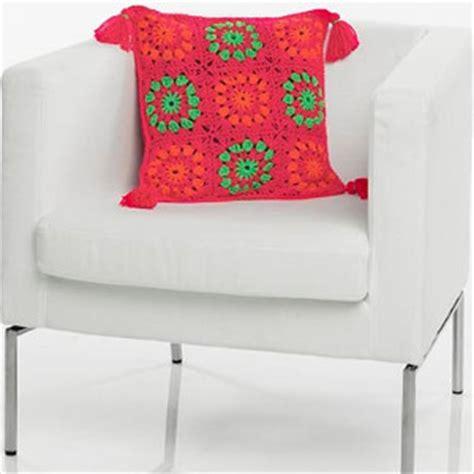 Tassel Motif neon motif tassel pillow allfreecrochet