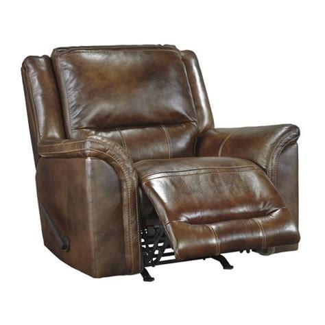 ashley leather recliners ashley jayron leather rocker recliner in harness u7660025