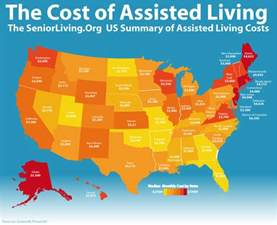 infographic about the cost of assisted living
