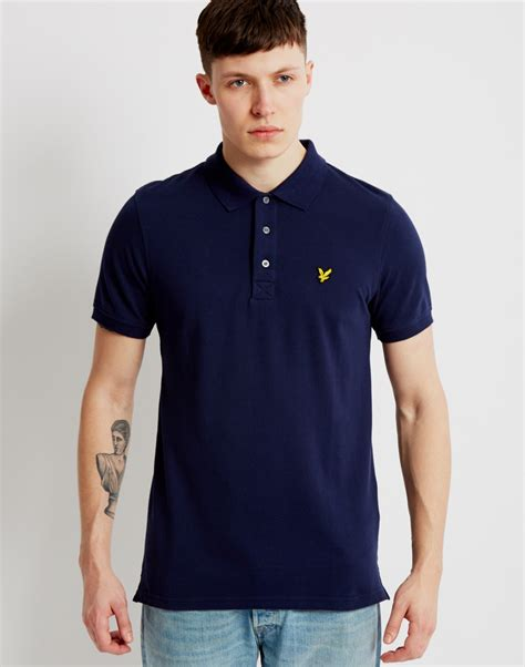 lyst lyle polo shirt navy in blue for