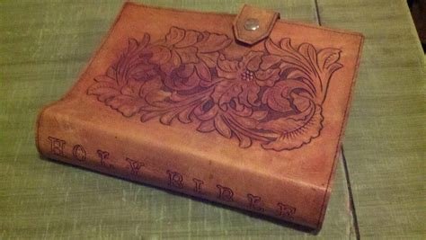 Handmade Bibles - made bible cover by alamo custom leather custommade