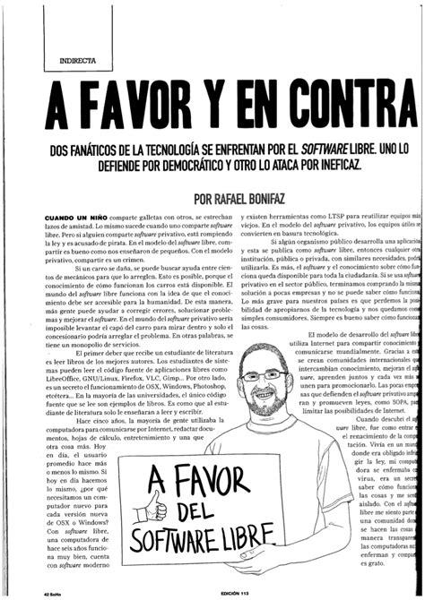 Artículo sobre Software Libre publicado en SOHO – Ecuador