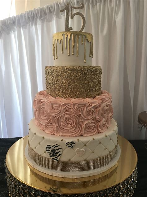 La 16 Gold 5330 quinceanera ideas sweet 16 and cake