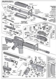 parts breakdown ar 15   firearms   bricolage, maquette