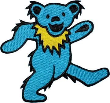 grateful dead large blue dancing bear patch woodstock trading company