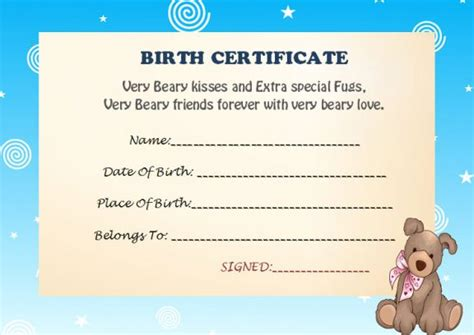 build a birth certificate template build a certificate template 15 attractive