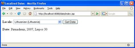 format date based on locale java what is a jsp page the java ee 5 tutorial