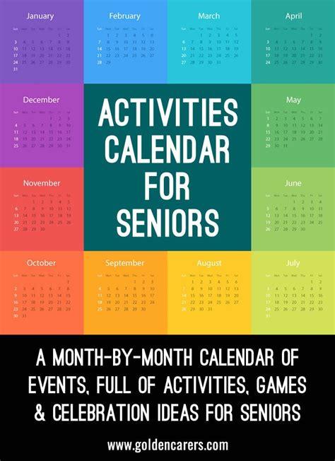 pinterest for elders activities calendar for activity coordinators working in