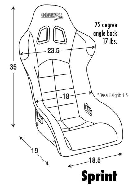 corbeau sport seat dimensions corbeau sprint racing seat fia approved harrison
