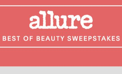 Best Sweepstakes 2017 - allure 2017 best of beauty sweepstakes sun sweeps