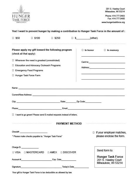 6 Charitable Donation Form Templates Formats Exles Charitable Donation Form Template