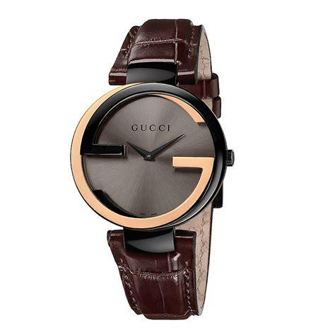 Gucci G0119 Browb Rosegold gucci interlocking gold brown ernest jones