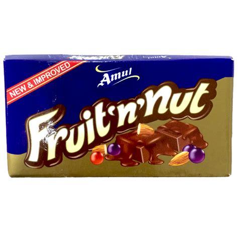 fruit n nut chocolate chocolates buy amul fruit n nut 40g fresh n easy
