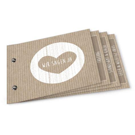 Einladung Hochzeit Booklet by Vintage Hochzeitseinladung Als Booklet Im Packpapier Design