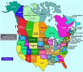 map of canada showing major cities provinces and states map easily shows what states