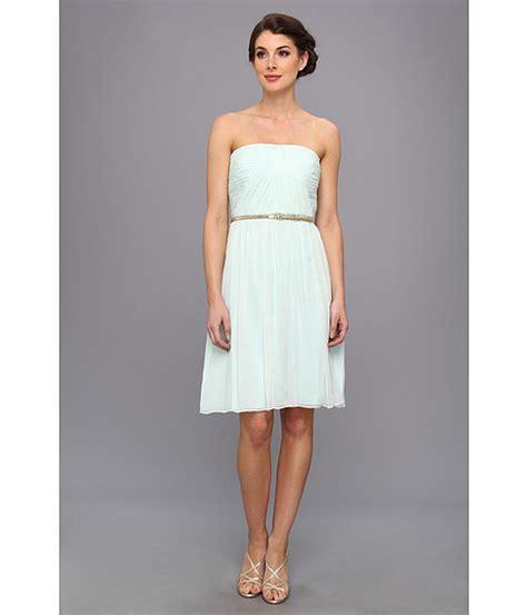 donna glass dress donna donna strapless belted chiffon dress