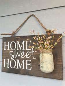 rustic outdoor home sweet home outdoor welcome by redroansigns