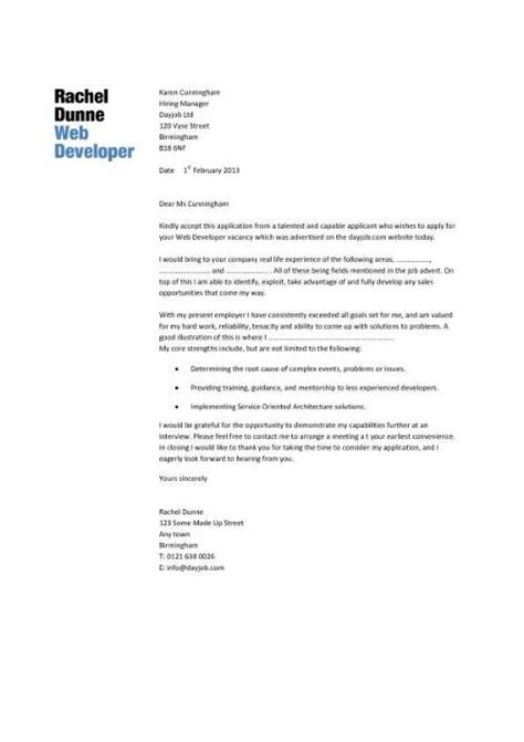 Cover Letter Web Developer by Learn How To Write A Web Designer Cover Letter By Using This Professionally Written Sle