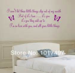 song lyrics quot little things wall decal sticker girls room related girl decals