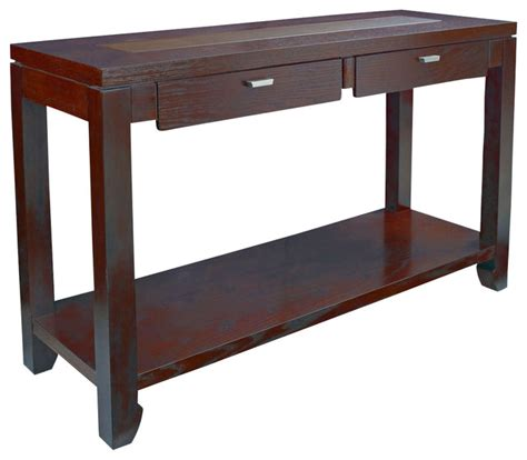 Traditional Sofa Table by Hammary Kanson Sofa Table In Oxblood Finish Traditional