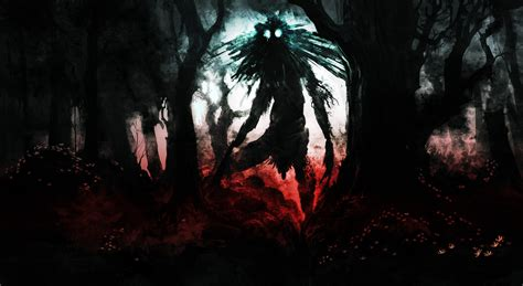 wallpaper dark monster creepy wallpaper and background 1600x877 id 263233