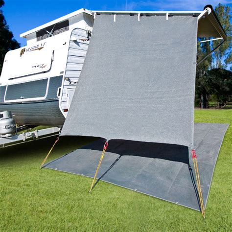 shade walls for caravan awnings caravansplus cgear caravan end wall 90 shade 2 1m wide