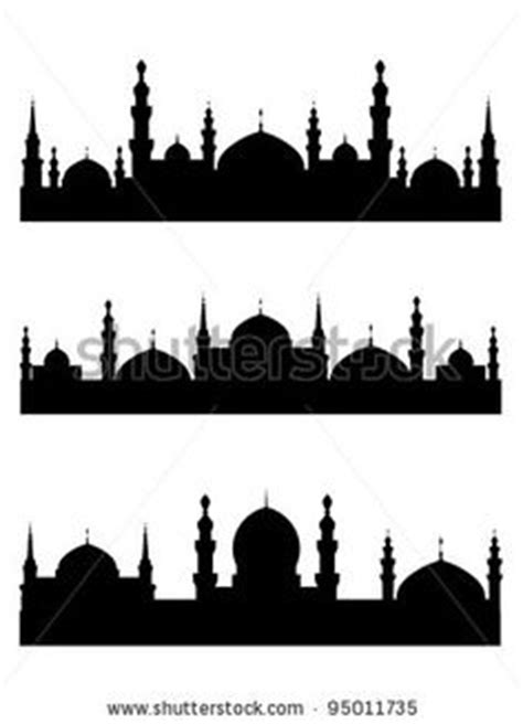 design masjid photoshop islamic mosque silhouette vector illustration free