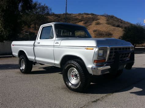 1979 ford f150 4x4 short bed for sale 1979 ford f150 ranger 4x4 short bed 351 v8 4 speed 1 owner runs amazing no rust used