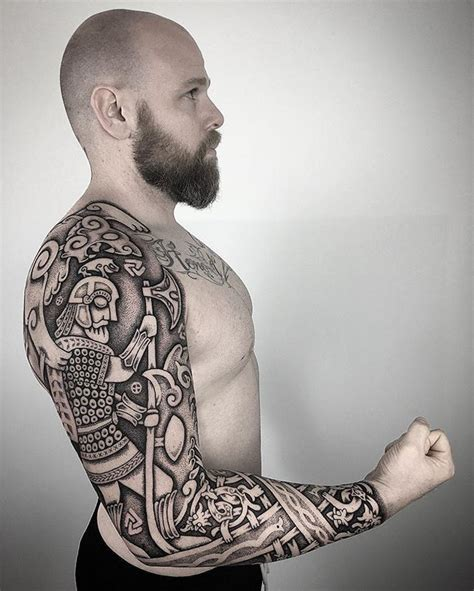 nordic sleeve tattoo designs neo nordic forn si 240 r heathenry viking tattoos