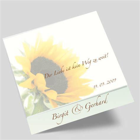 Hochzeitseinladungskarten Mit Foto by Hochzeitseinladung Mit Foto Sonnenblumentraum