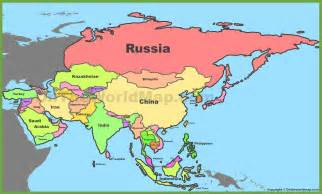 Where Is Asia On The Map by Asia Maps Maps Of Asia Ontheworldmap Com